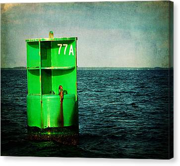 Channel Marker 77a Canvas Print by Rebecca Sherman