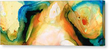 Flow Canvas Print - Channels - Abstract Art By Sharon Cummings by Sharon Cummings