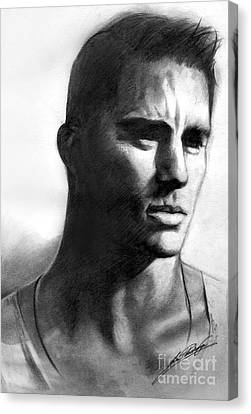 Channing Tatum Canvas Print by Lin Petershagen