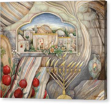 Chanukah Canvas Print by Michoel Muchnik