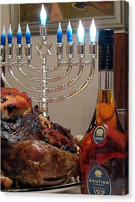 Chanukah Thanksgiving Celebration Canvas Print by Vadim Levin
