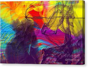 Canvas Print featuring the digital art Chaos by Clayton Bruster