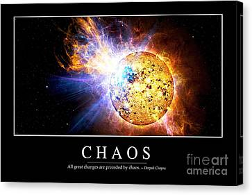 Chaos Inspirational Quote Canvas Print