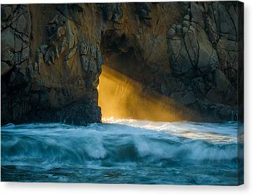 Chaos - Pfeiffer Beach Canvas Print