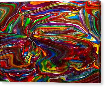 Chaotic Flow Canvas Print