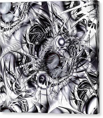 Chaotic Space Canvas Print by Anastasiya Malakhova