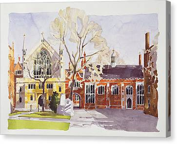 Chapel And Hall  Lincoln's Inn Canvas Print by Annabel Wilson