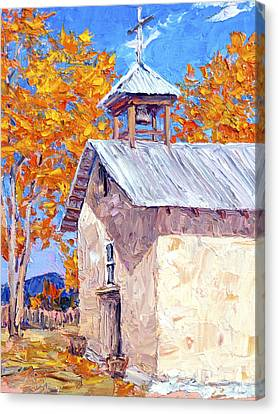Chapel At Ojo Claiente Canvas Print by Steven Boone