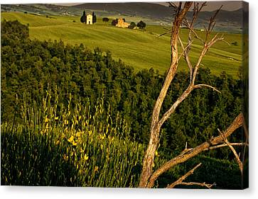 Chapel At Springtime Canvas Print by Andrew Soundarajan