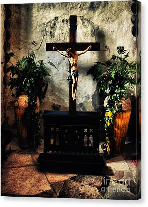 Chapel At The Mission Concepcion Canvas Print by Gerlinde Keating - Galleria GK Keating Associates Inc