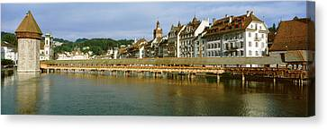 Chapel Bridge, Luzern, Switzerland Canvas Print by Panoramic Images