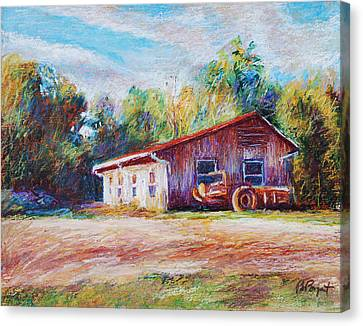 Chapel Hill Creamery Barn Canvas Print by Bethany Bryant