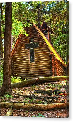 Chapel In The Pines Canvas Print by Randy Pollard