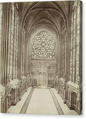 Chapel In The Sainte-chapelle In Paris, France Canvas Print by Artokoloro