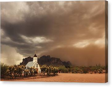 Chapel In The Storm Canvas Print by Rick Furmanek