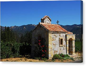Chapel In The Vineyard Canvas Print by Mel Steinhauer