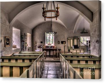 Chapel In Wales Canvas Print by Adrian Evans