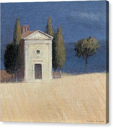 Chapel Near Pienza II, 2012 Acrylic On Canvas Canvas Print by Lincoln Seligman