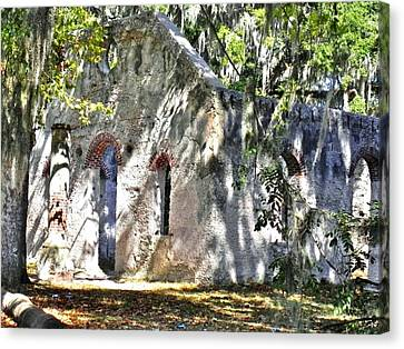 Chapel Of Ease Main Ruins Canvas Print by Patricia Greer