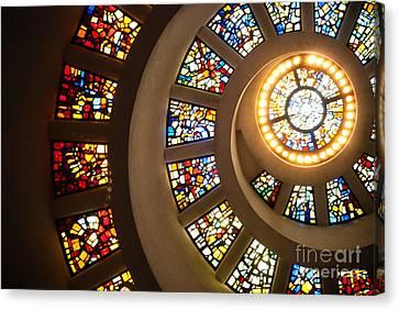 Chapel Of Thanksgiving Dallas Canvas Print by Sonja Quintero