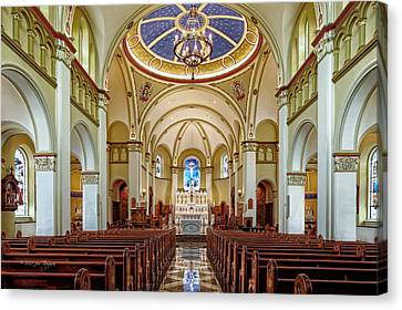 Canvas Print featuring the photograph Chapel Of The Immaculate Conception by Jim Thompson