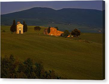 Chapel On A Hillside Canvas Print by Andrew Soundarajan