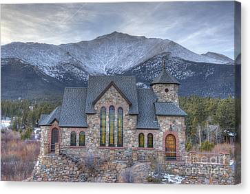 Chapel On The Rock Canvas Print by Juli Scalzi