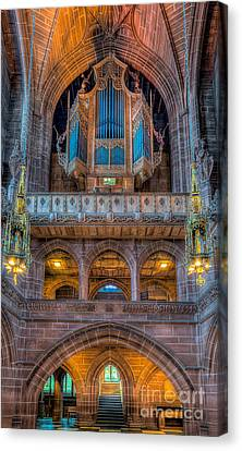 Chapel Organ Canvas Print by Adrian Evans