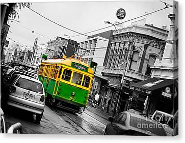 Chapel St Tram Canvas Print
