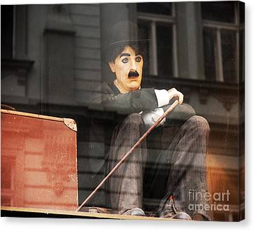 Chaplin In Prague Canvas Print by John Rizzuto
