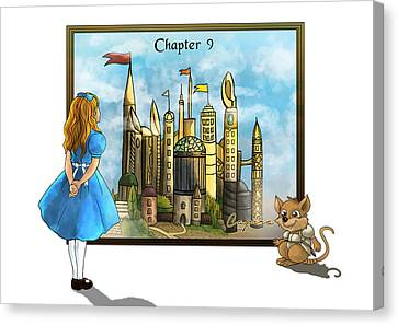Canvas Print featuring the painting Chapter Nine by Reynold Jay