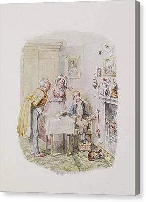 Characters From Oliver Twist Canvas Print by British Library