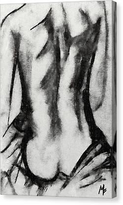 Charcoal Back Canvas Print by Dragica  Micki Fortuna