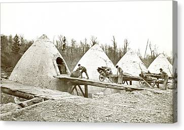 Charcoal Ovens Canvas Print by Hagley Museum And Archive