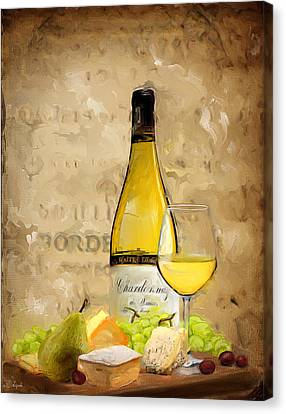 Purple Grapes Canvas Print - Chardonnay Iv by Lourry Legarde