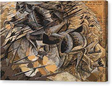 Charge Lancers Canvas Print by Umberto Boccioni