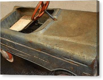 Charger Pedal Car Canvas Print by Michelle Calkins
