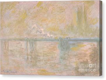 Charing Cross Bridge 1899-01 Canvas Print