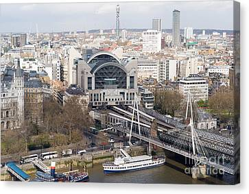Charing Cross Station And Hungerford Bridge I Canvas Print by Clarence Holmes