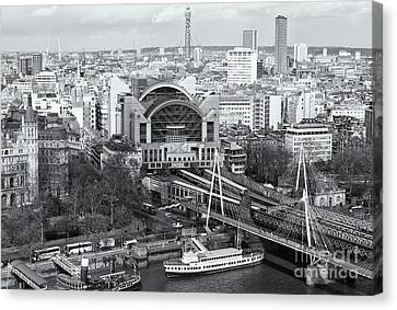 Charing Cross Station And Hungerford Bridge II Canvas Print by Clarence Holmes