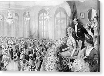 Ball Gown Canvas Print - Charity Ball, 1911 by Granger