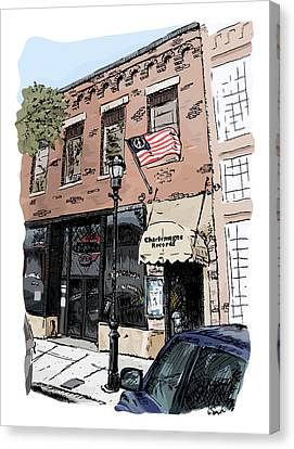 Charlemagne Record Exchange Canvas Print