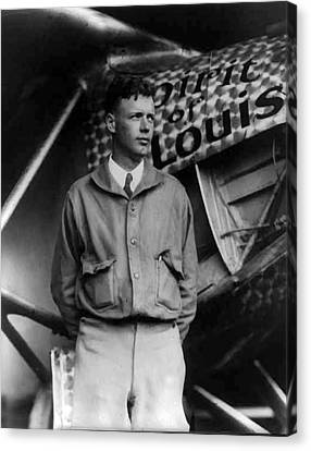 Charles A Lindbergh Spirit Of St. Louis  Canvas Print by Unknown