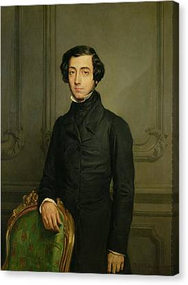 Democracy Canvas Print - Charles-alexis-henri Clerel De Tocqueville 1805-59 1850 Oil On Canvas by Theodore Chasseriau