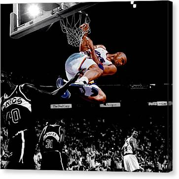 Shawn Kemp Canvas Print - Charles Barkley Hanging Around by Brian Reaves