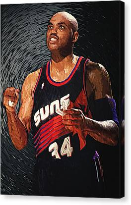 Charles Barkley Canvas Print by Taylan Apukovska