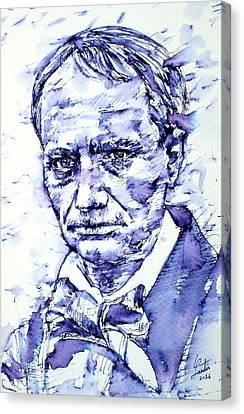 Charles Baudelaire Portrait Canvas Print by Fabrizio Cassetta