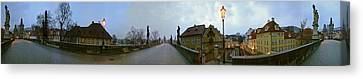 Charles Bridge 360 Canvas Print by Gary Lobdell
