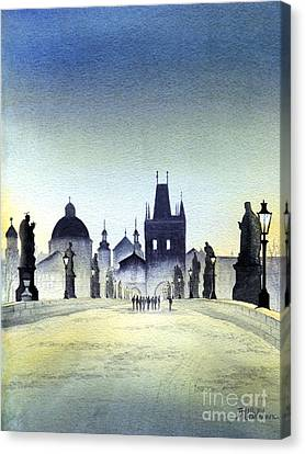 Charles Bridge Canvas Print by Bill Holkham