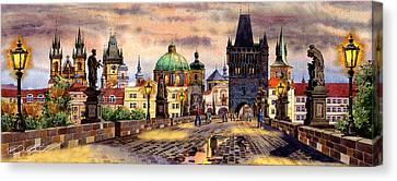 Charles Bridge Canvas Print by Dmitry Koptevskiy